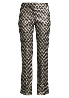 Trina Turk Banshee Jacquard Cropped Pants