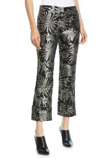 Trina Turk Banshee Pants in Metallic Daisy Jacquard