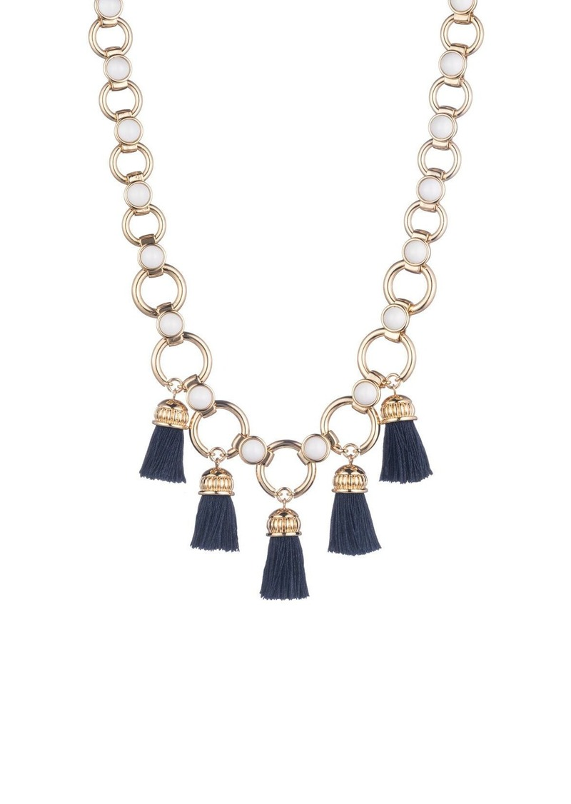 Trina Turk BEADS IN BLOOM TASSEL LINK NECKLACE