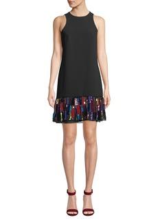 Trina Turk Berry Sequin Velvet Dress