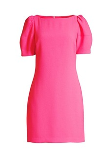 Trina Turk Bloom Puff-Sleeve Dress