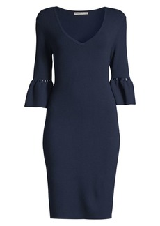 Trina Turk Blues Bell-Sleeve Sweater Dress
