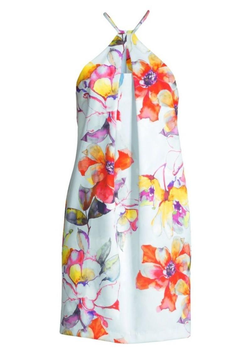 Trina Turk Bold Floral Halterneck Dress
