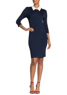 Trina Turk Bookish Peak Collar Knit Dress