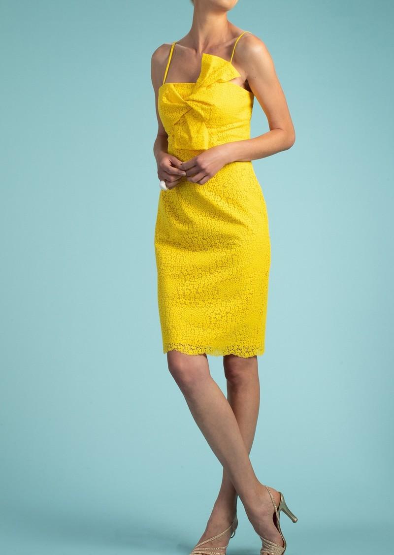 Trina Turk Bright Lace Twist Bust Dress