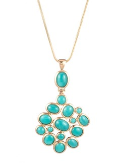 Trina Turk BRUNCHING IN PALM SPRINGS STONE PENDANT NECKLACE