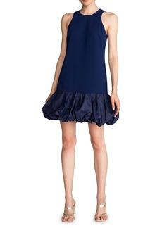 Trina Turk Bubble-Hem Halterneck Dress