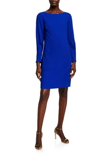 Trina Turk Calistoga Bateau-Neck Long-Sleeve Dress