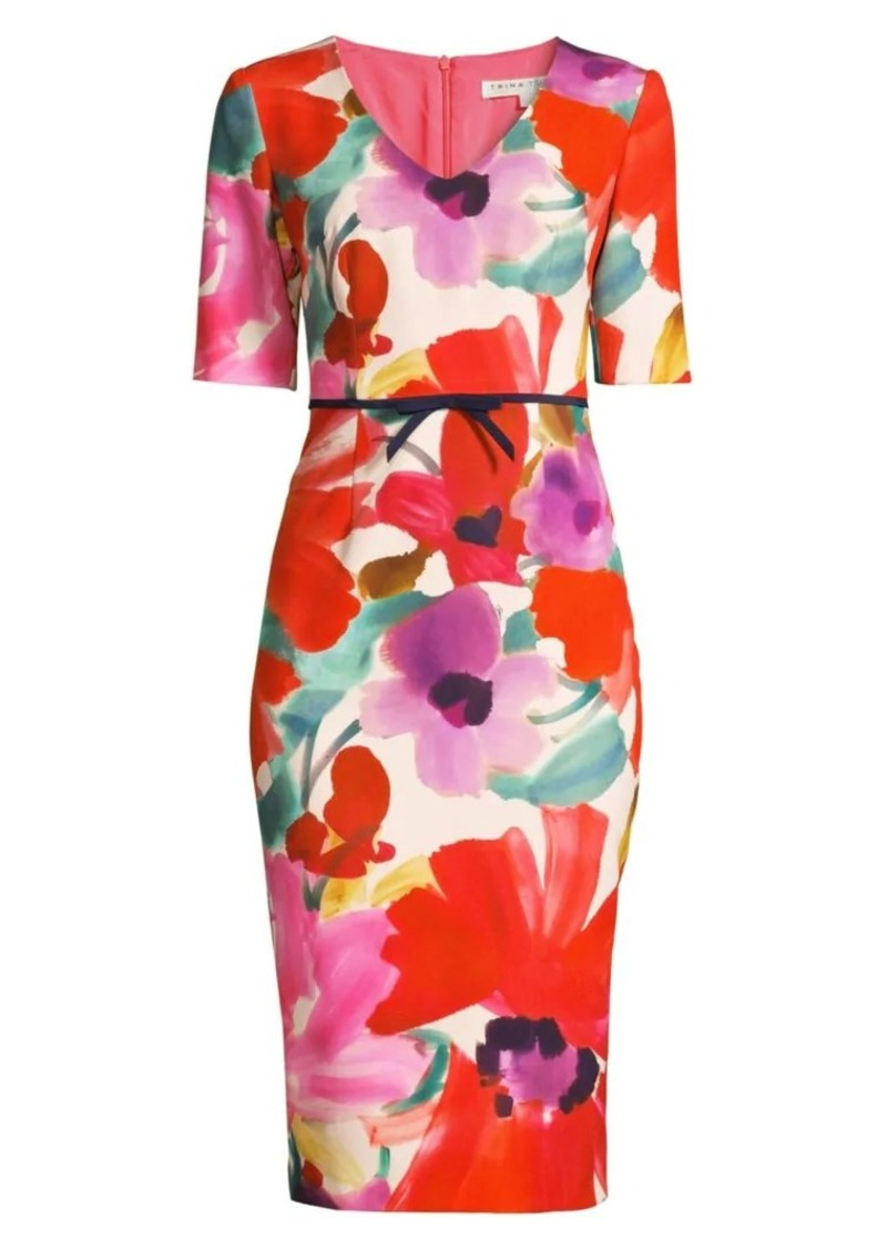 Trina Turk Camellia Blossom Smoothie Mid Century Dress