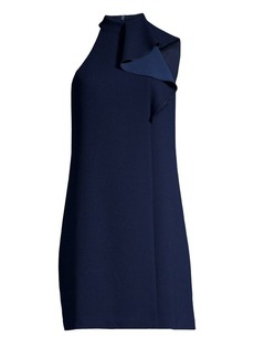Trina Turk Capilla Classic Crepe Mockneck Sheath Dress