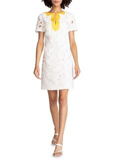 Trina Turk Carsten Floral Applique Shift Dress
