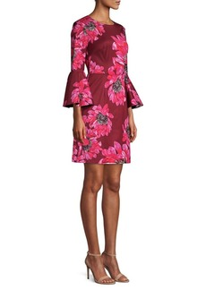 Trina Turk Casa Mexico Splendid Bell-Sleeve Mini Dress