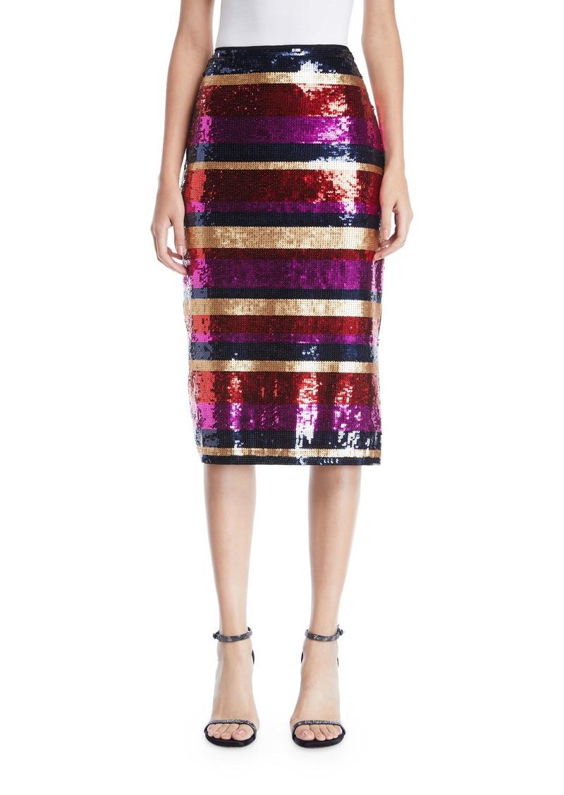 Trina Turk Cava Striped Sequin Skirt