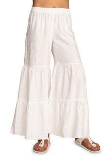 Trina Turk Chill Out Linen Flare Pants
