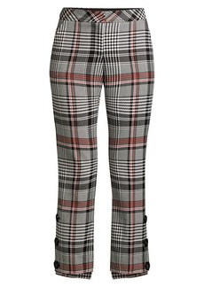 Trina Turk Churchill Plaid Steph Hem Pants
