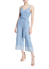 Trina Turk Cloud Sleeveless Wide-Leg Crop Jumpsuit