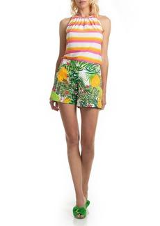 Trina Turk Coccoloba Fantasy Island Print Shorts