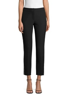 Trina Turk Cocktail Soiree Flirtini Crystal Side Stripe Pants
