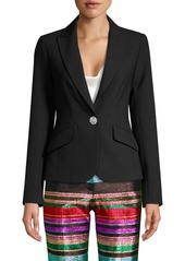 Trina Turk Cocktail Soiree Gala Crystal Button Blazer