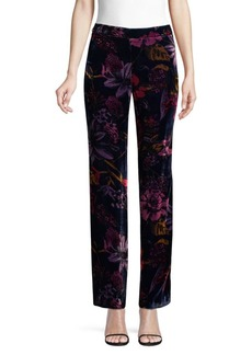 Trina Turk Cocktail Soiree Penelope Velvet Wide Leg Pants