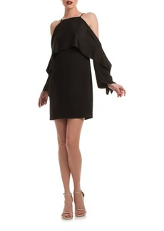Trina Turk Cold-Shoulder Cape Dress