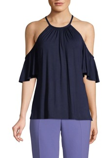 Trina Turk Cold-Shoulder Cutout Top
