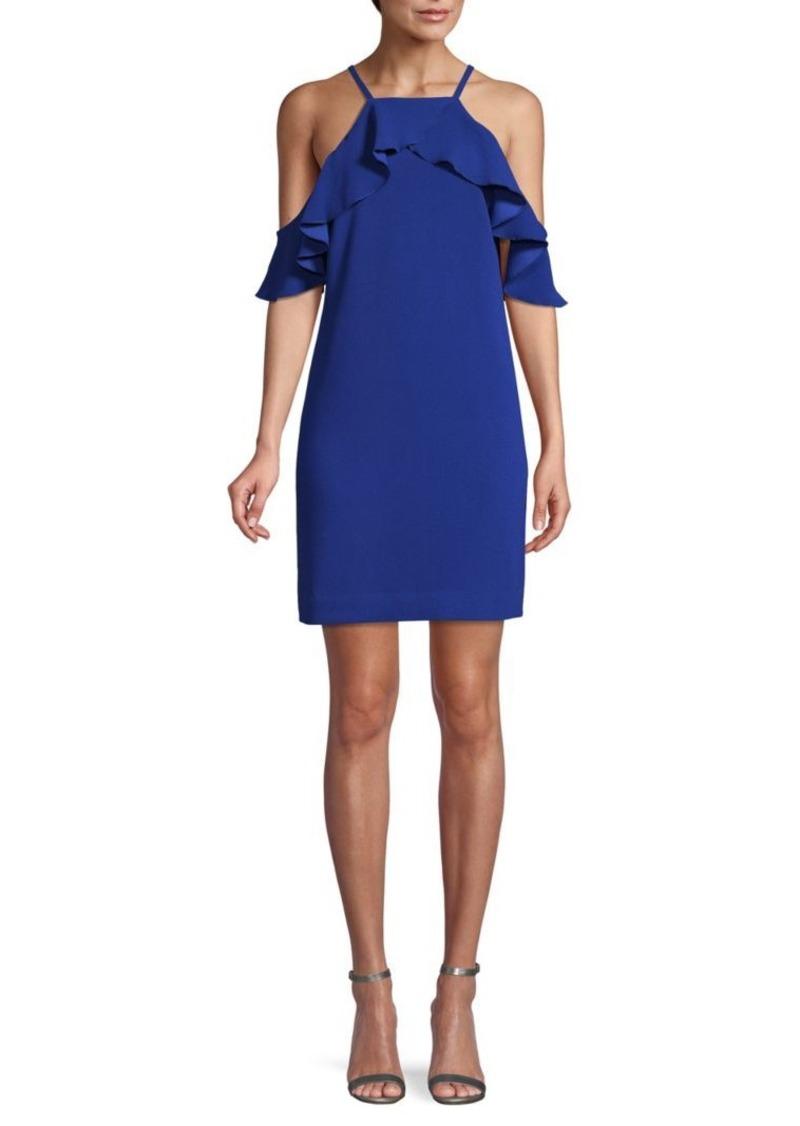 Trina Turk Cold-Shoulder Mini Shift Dress