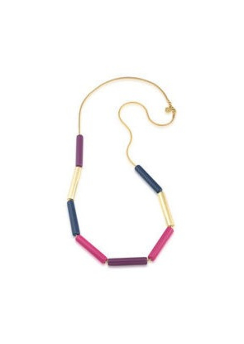 Trina Turk color tube necklace