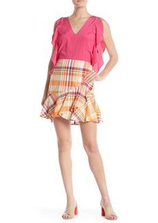Trina Turk Conversation Plaid Print Skirt
