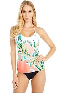 Trina Turk Costa De Prata Adjustable Neckline Halter Tankini Swimsuit Top