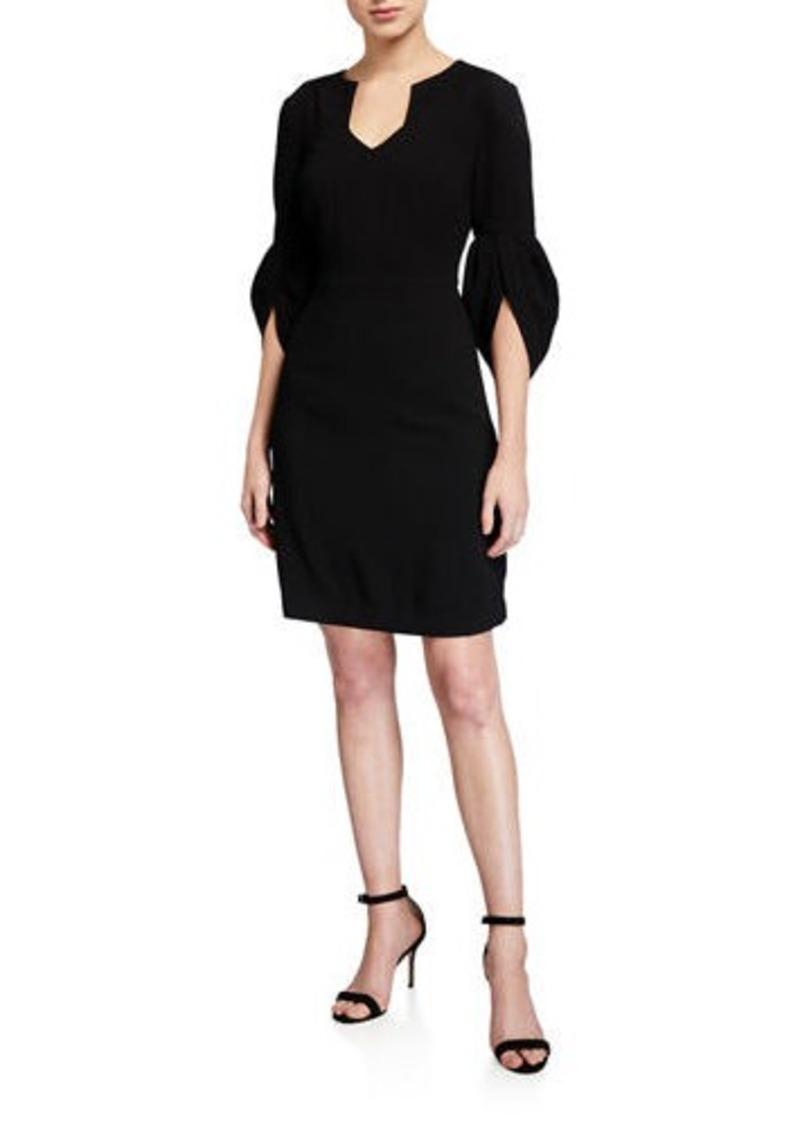 Trina Turk Covelo V-Neck 3/4-Sleeve Sheath Dress
