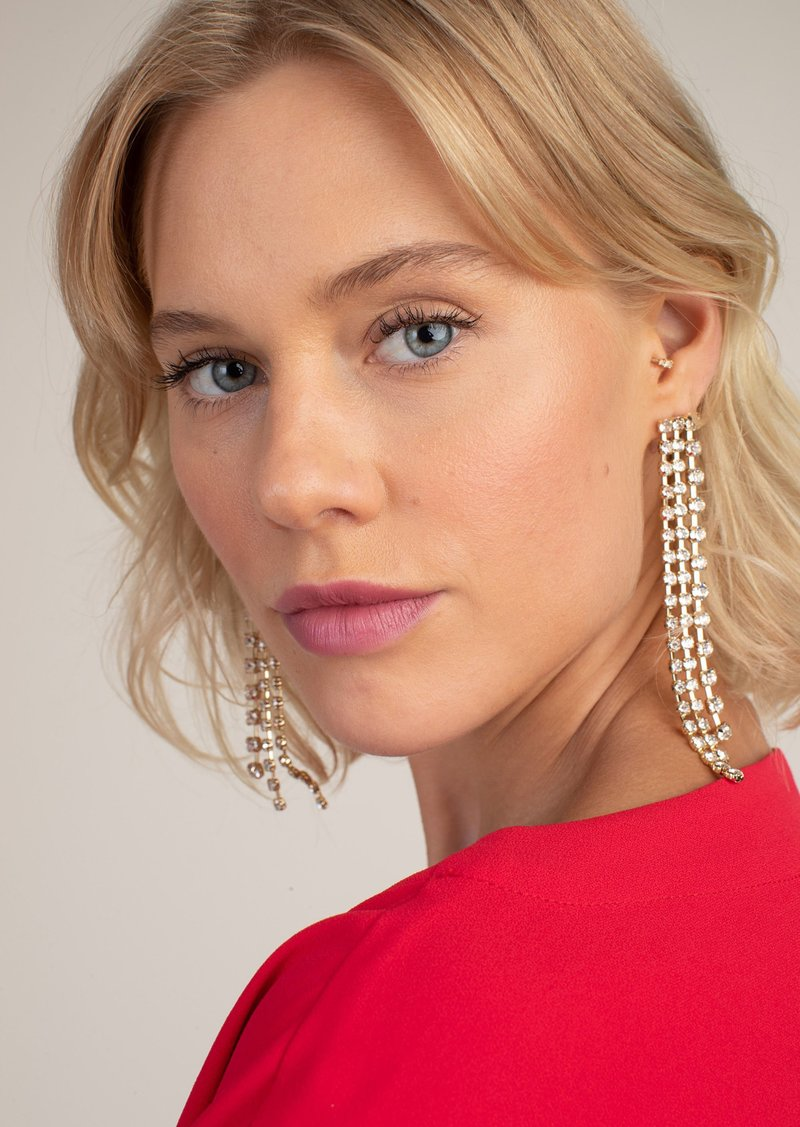 Trina Turk CRYSTAL FRINGE EARRINGS