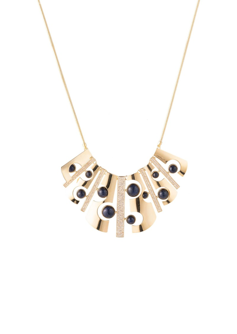 Trina Turk CUT-OUT BIB NECKLACE W/ PAVE
