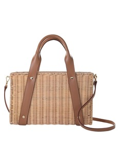 Trina Turk DAISY WICKER BAG