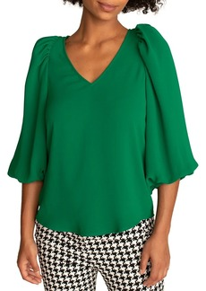 Trina Turk Danise Puff-Sleeve Top