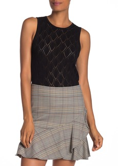 Trina Turk Danville Pointelle Knit Top