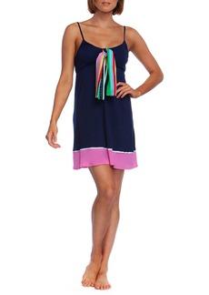 Trina Turk Deco Stripe Coverup Dress with Scarf