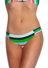 Trina Turk Deco Striped Shirred Hipster Bikini Bottoms