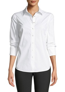 Trina Turk Devista Blouse with Crystal Buttons