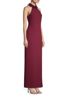 Trina Turk Dobbie Halterneck Column Gown