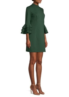 Trina Turk Dylan Tiered Bell Sleeve Shift Dress