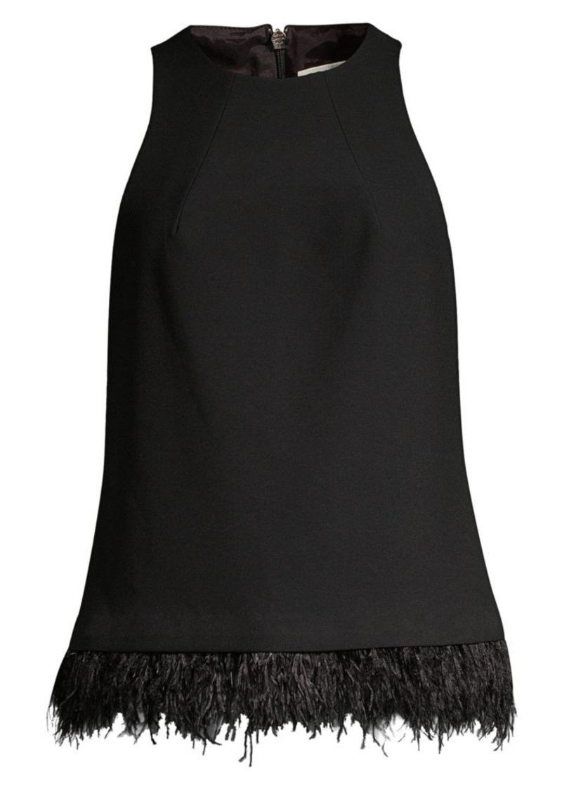 Trina Turk Easter Luxe Eero Feather-Trimmed Top