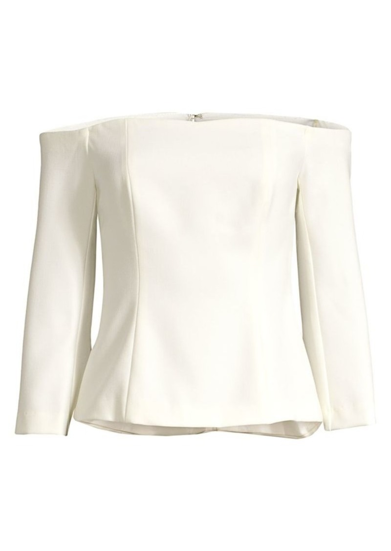 Trina Turk Eastern Lux Refined Off-The-Shoulder Top
