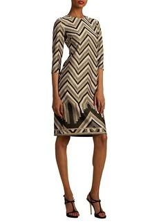 Trina Turk Eastern Luxe Becket Chevron Dress