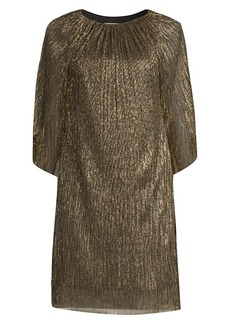 Trina Turk Eastern Luxe Hima Metallic Cape Dress