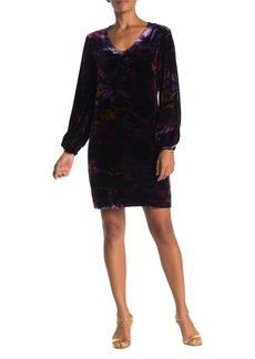 Trina Turk Eclair Floral Print Velour Dress