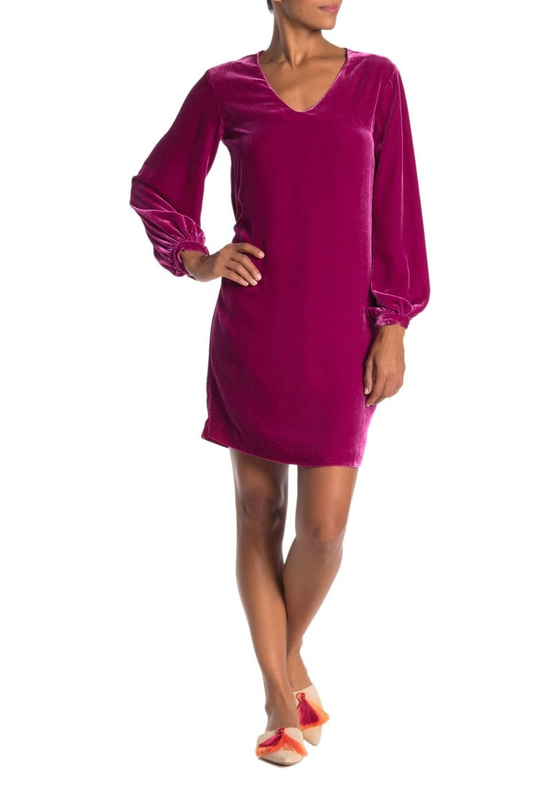 Trina Turk Eclair Long Sleeve Velour Dress
