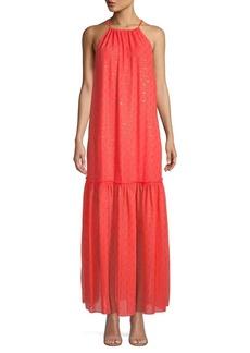 Trina Turk Embellished Halterneck Maxi Dress
