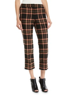 Trina Turk Estevan Cropped Pants in Plaid