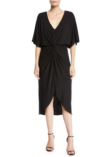 Trina Turk Etta Gathered Matte Jersey Cocktail Dress